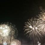 関門海峡花火大会 門司と下関からの花火 北九州市下関市